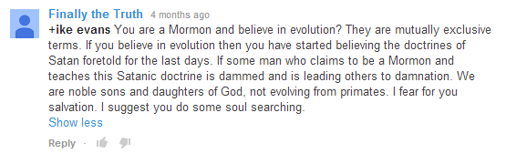 YouTube comment. Finally the Truth: