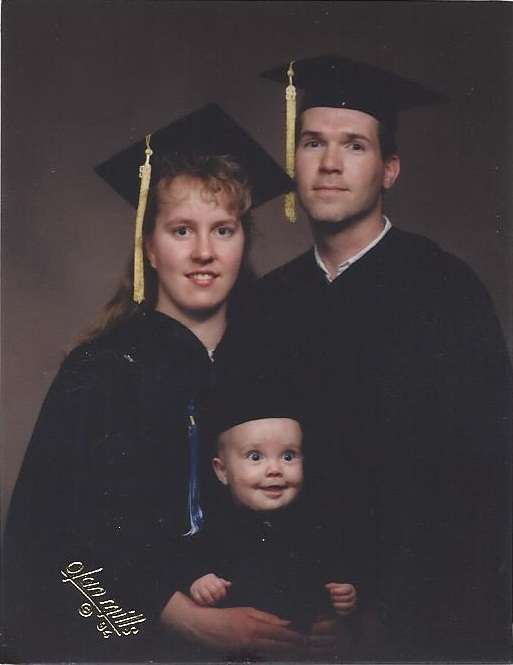 C. Randall Nicholson graduating from BYU with his parents