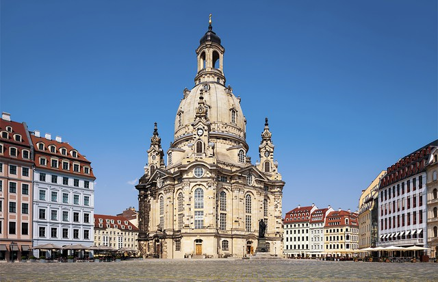 The Lutheran church Frauenkirche, the Church of Our Lady, in Dresden, Germany