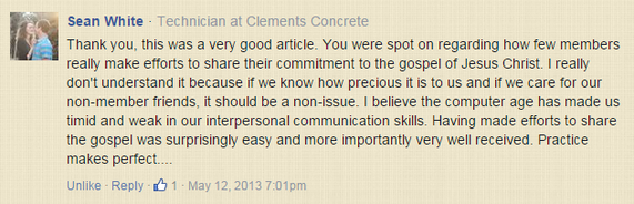 Comment. Sean White, Technician at Clements Concrete: