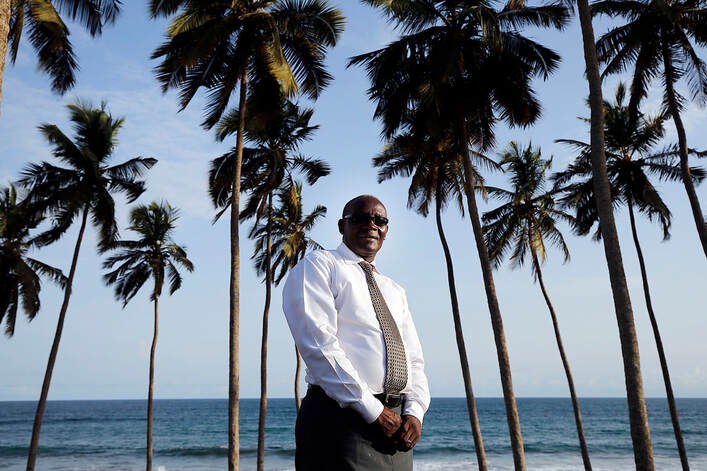 John Dan Ewudzie poses for a photo in Cape Coast, Ghana on Sunday, April 22, 2018. Credit: Ravell Call, Deseret News, Deseret News