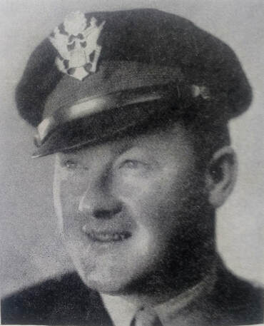 Joseph H. Weston in his Army officer's cap.